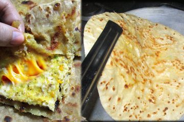 Chicken Cheese Paratha