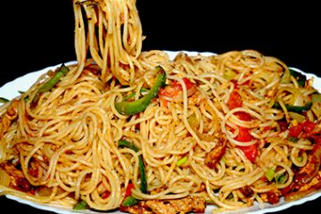 chicken vegetable spaghetti