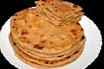 vegetable cheese paratha