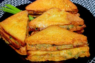 vegetable fried sandwich