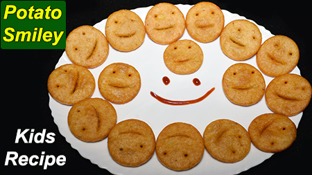 Potato Smiley Recipe Snacks For Kids Lunch Box