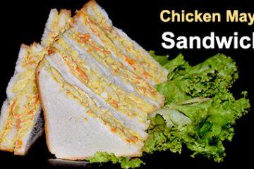 Chicken mayo veg sandwich