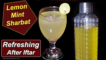 Nimbu Pudina Sharbat Lemon Mint Sharbat Ramadan Special