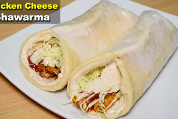 Chicken Cheese Shawarma Recipe