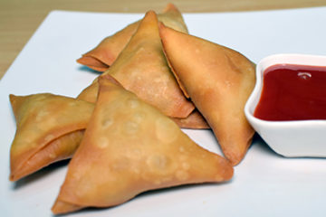chicken cheese samosa