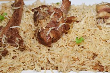 mutton white pulao