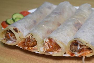 seekh kabab paratha roll