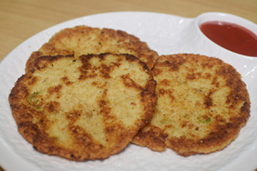 Cheesy Potato Pancakes Recipe