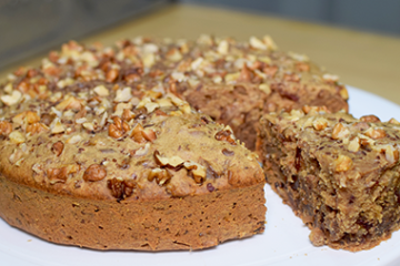 Dates Walnut Cake