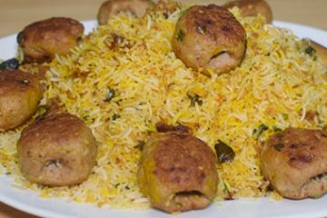 Gola Kabab Biryani