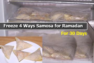 freeze samosa for ramadan