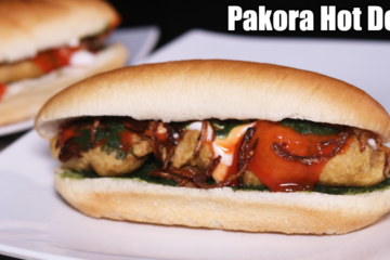 Chicken Pakora Hot Dog