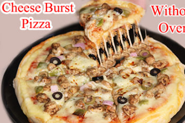 Cheese Burst Pizza Recipe Without Oven