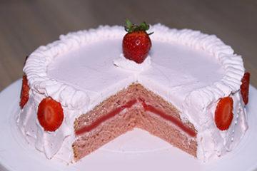 Strawberry Chiffon Cake Recipe