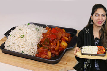 Chicken Sweet and Sour With Rice Sizzler
