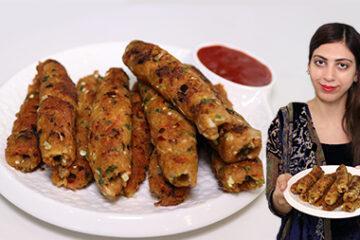Aloo Ke Seekh Kabab