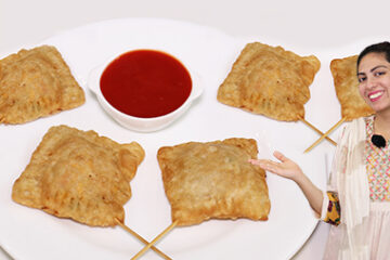 Chicken Cheesy Samosa Pops