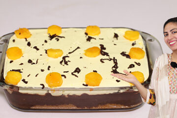 Mango Chocolate Cake Without Oven